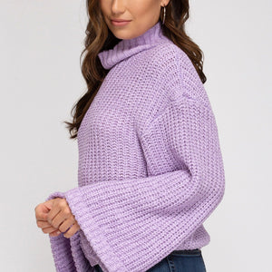 Lavender Mock Neck Sweater