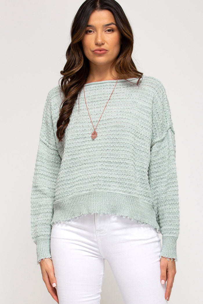 Seafoam Long Sleeve Sweater