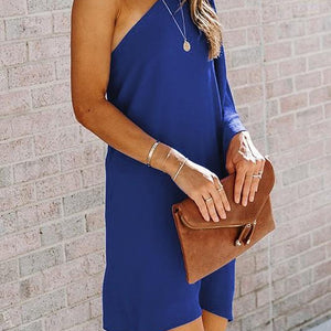 ROYAL ONE SHOULDER DRESS