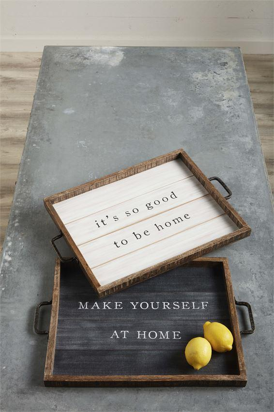 Home Tray Plaque- 2 Colors Available