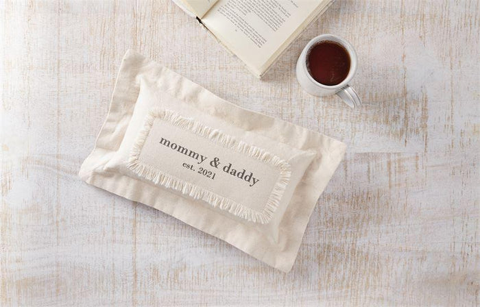 Mommy & Daddy EST 2021 Pillow