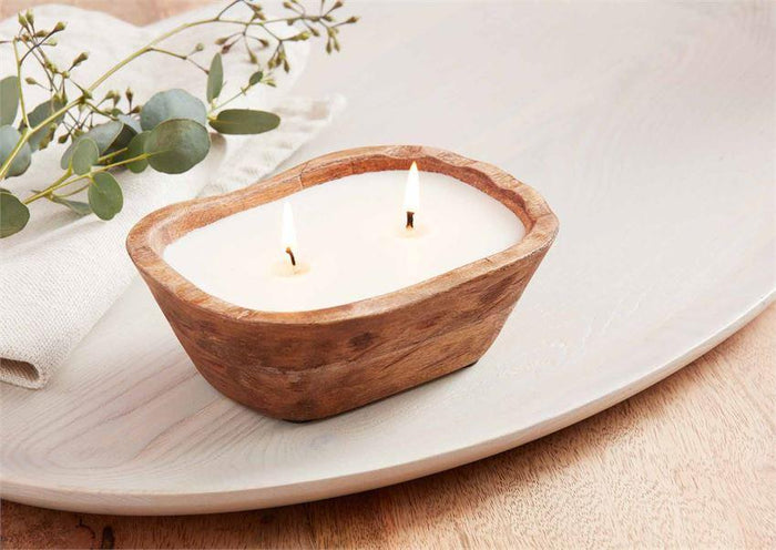 PETITE WOOD BOWL CANDLE