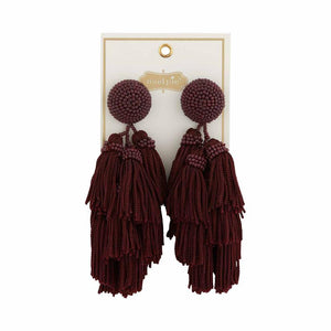 Tassel Earring- 3 Colors Available