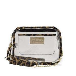 Cheetah Square Clear Bag