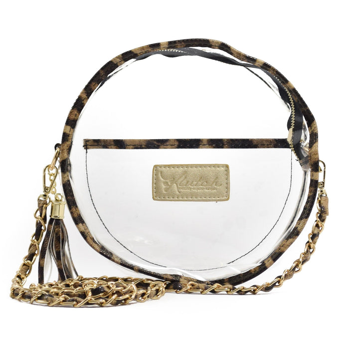 Cheetah Round Clear Bag