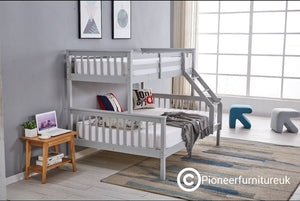 Triple Sleeper Bunk bed in Silk Grey
