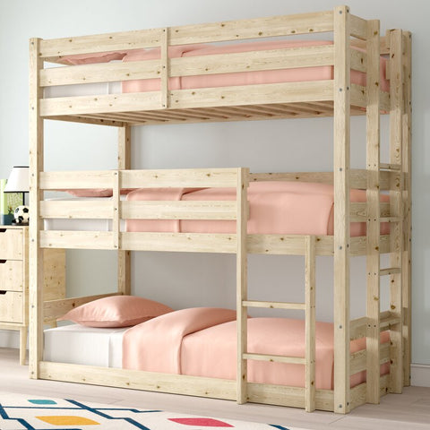 3Tire Wooden Bunk Bed frame