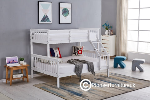 Triple Sleeper Bunk Bed in White