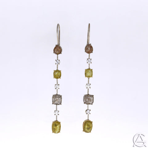 Goldart Natural Coloured Diamond Earrings