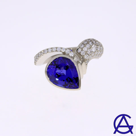 Goldart Tanzanite and Diamond Ring