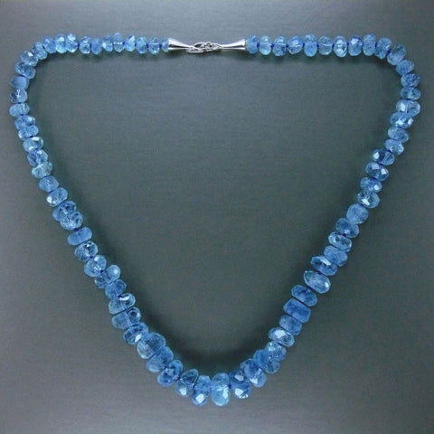Faceted Aquamarine Necklace