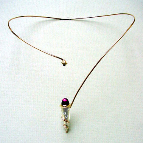 Ice Cream Cone Garnet Necklace