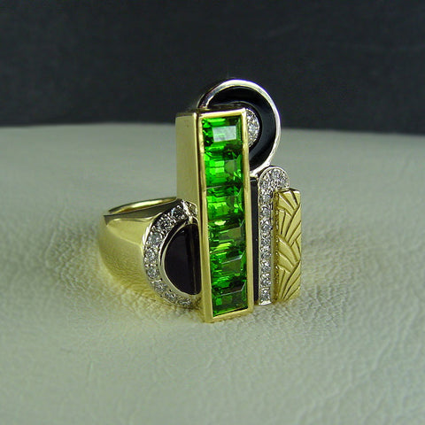 Art Deco City Ring