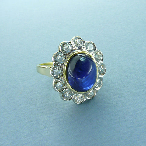 deco diamond lane rings the engagement sapphire cabochon art large aquamarine item ring ruby genuine jewelry article