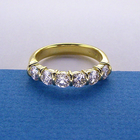 Half Eternity Diamond Band