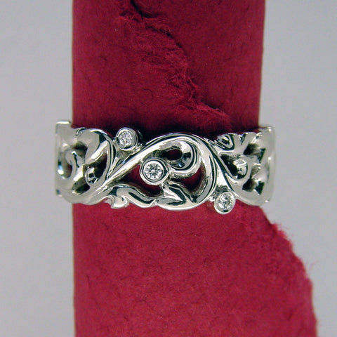 Art Nouveau Diamond Band