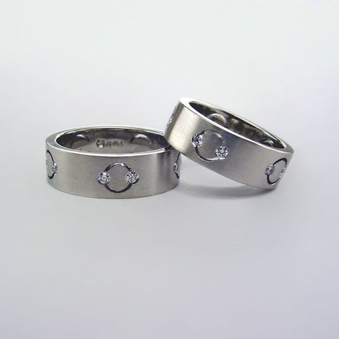 Matching Platinum and Diamond Wedding Bands
