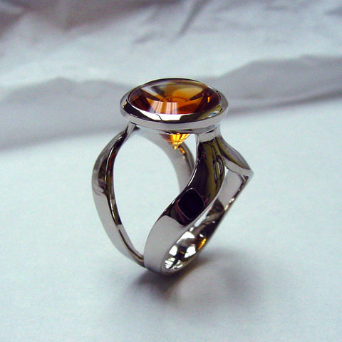Sprial Cut Citrine Ring