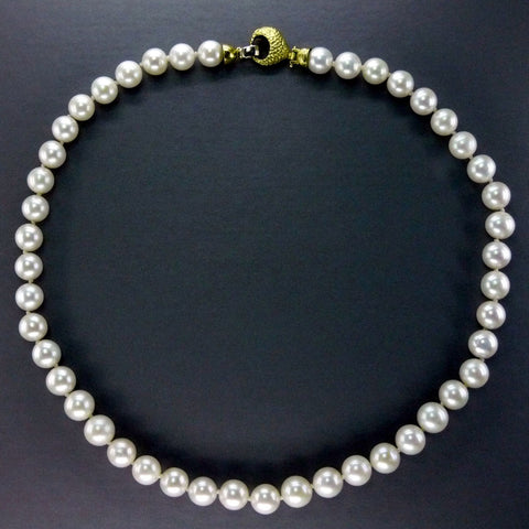Natural White Pearl Necklace