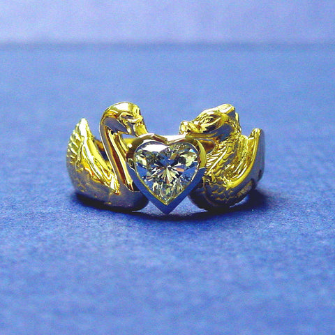Swan and Dragon Ring