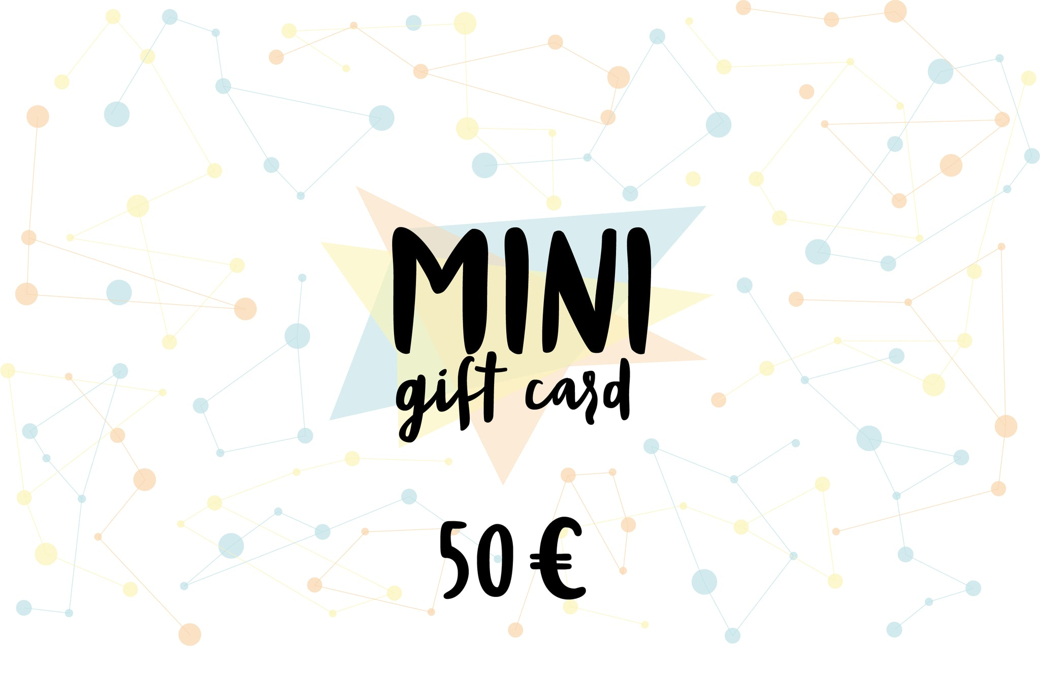 MINI Gift card, value of 50 euro