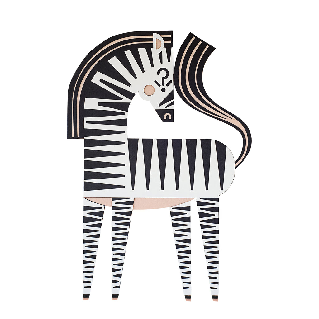 The MINI artwork HAMLETTHEZEBRA, for kids decor room