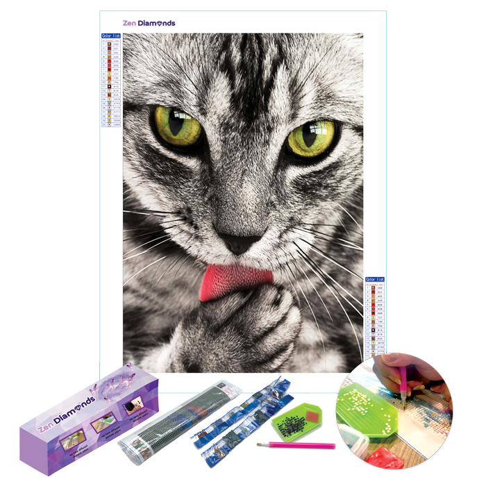 Green Eyes Diamond Painting Set