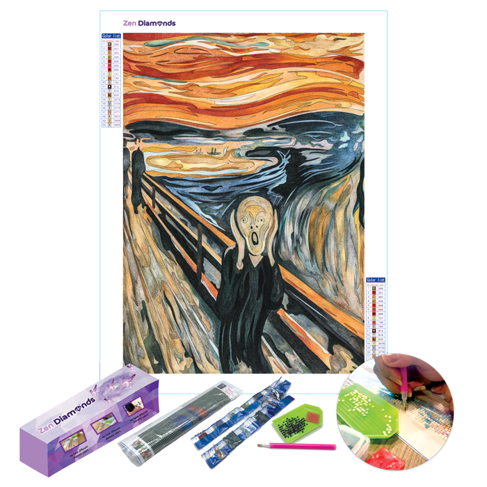 The Scream Diamond Painting Set