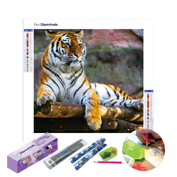 Tiger King Diamond Painting Kit