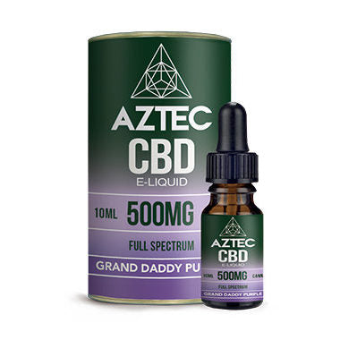 AZTEC /Full Spectrum CBD E-LIQUID 10ml  Granddaddy Purple 500mg.