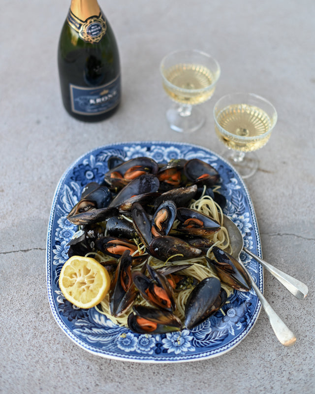 MUSSELS WITH SAMPHIRE AND SEAWATER PASTA