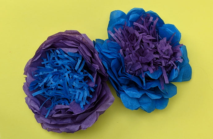 Quick craft activity: Make tissue paper flowers