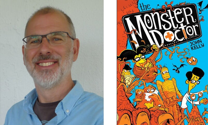 An interview with John Kelly, author of illustrated chapter book The Monster Doctor, perfect Halloween reading