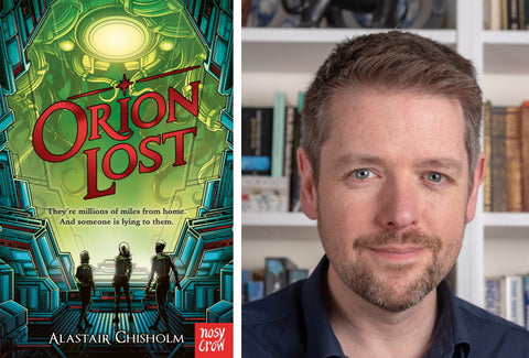 Alastair Chisholm, author of Orion Lost and the book cover.