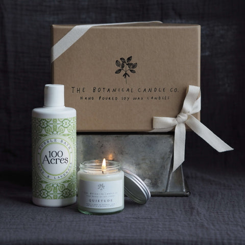 The Botanical Candle Co. Peace and Quiet Gift box