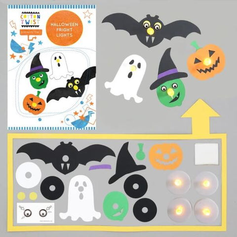 Make your own Halloween fright lights from Cotton Twist