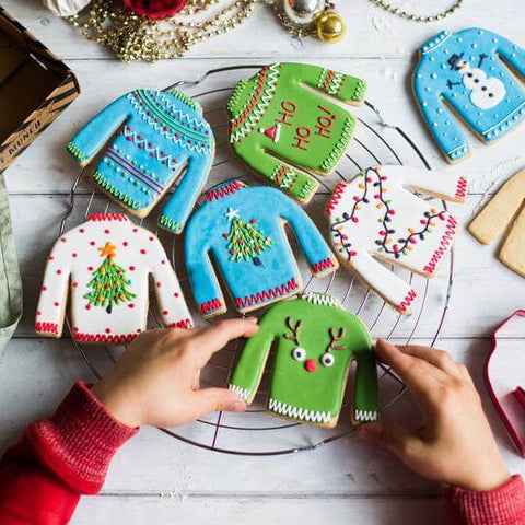 Craft & Crumb Christmas jumper biscuit baking kit