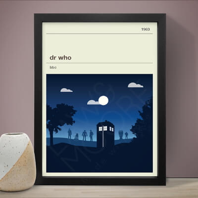 Dr Who print from Law & Moore