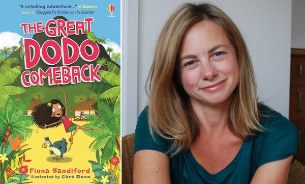 The Great Dodo Comeback by Fiona Sandiford. Book cover and author photograph.