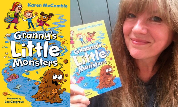 Granny's Little Monsters by Karen McCombie. Book cover and author photograph.