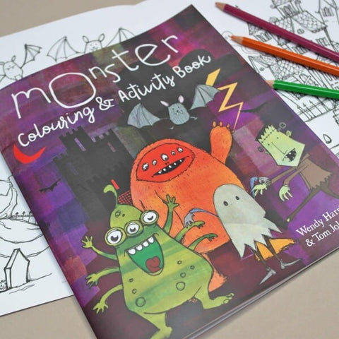 Letterfest's Monster colouring and activity book