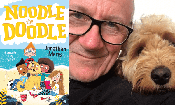 Noodle the Doodle by Jonathan Meres. Book cover and author photograph.