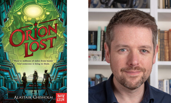 Orion Lost by Alastair Chisholm. Book cover and author photograph.