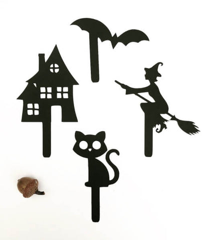The Paper Party Bag Shop's Halloween Shadow Puppets