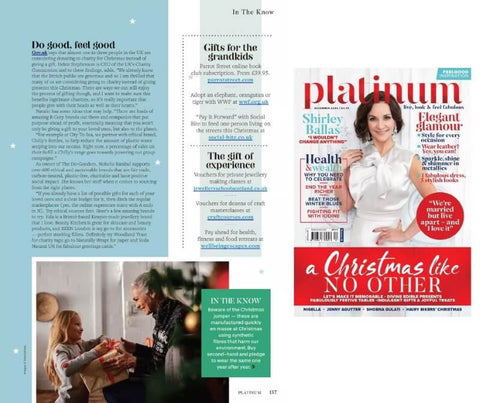 Platinum magazine featuring Parrot Street Book Club as a recommended gift for grandchildren