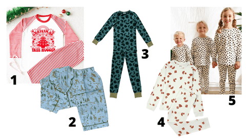 Christmas pyjamas from small brands to go in a Christmas Eve box