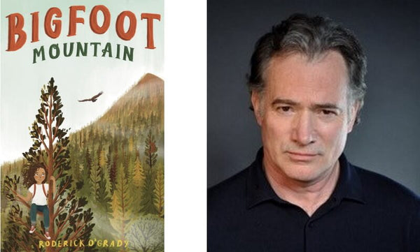 Bigfoot Mountain by Roderick O'Grady. Book cover and author photograph.