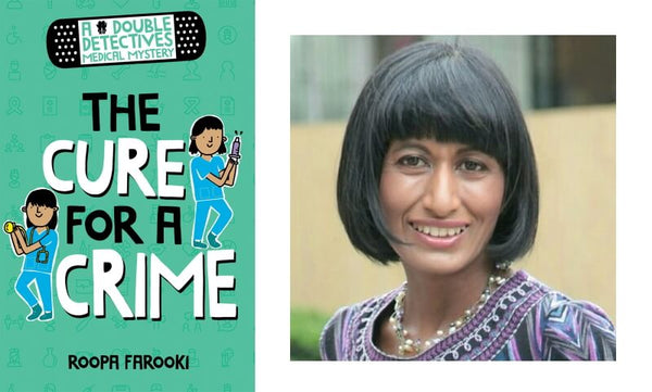 Roopa Farooki, author of The Cure for a Crime and the book cover
