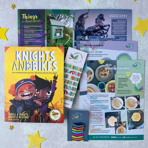 Knights & Bikes book set, perfect present for 7 year old plus.