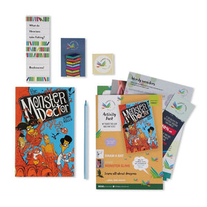 The Monster Doctor gift set perfect for sending as a children's gift by post.